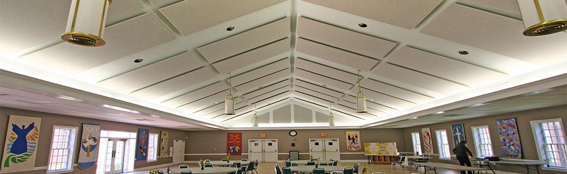 kumas kaplı tavan paneli